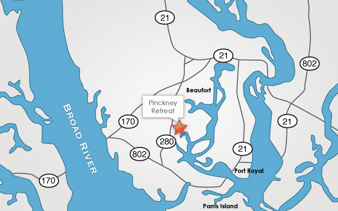Pinckney Retreat Location Map
